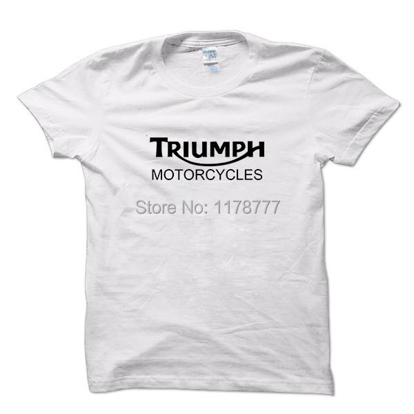 Classic TRIUMPH MOTORCYCLE Racing T Shirt Men 100% Cotton Short Sleeve Good Quality T-shirt Top Tees New Summer(China (Mainland))