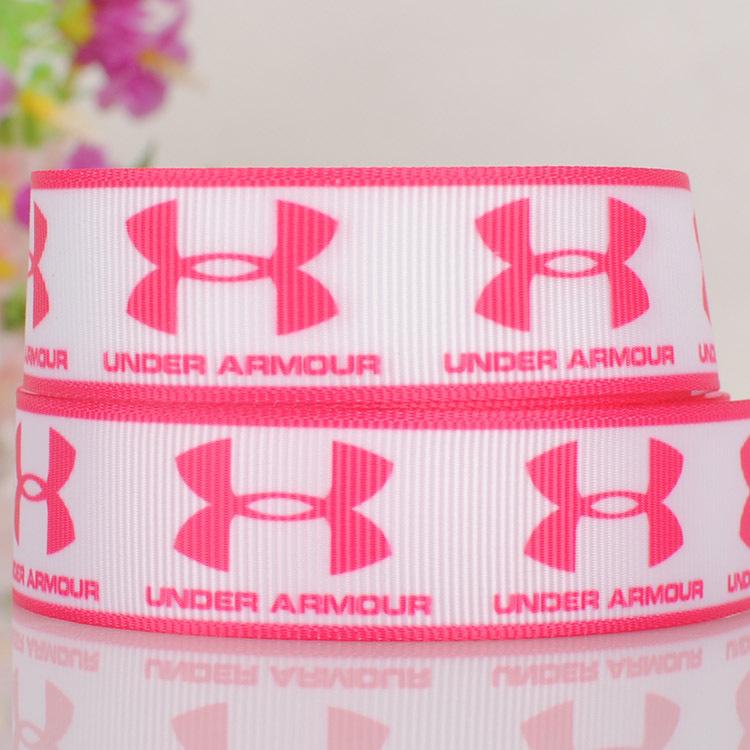 "7/8"" Brand Logo tape cartoon printed 22mm grosgrain ribbon DIY gift wrapping garment clothing hair accessories 22-11(China (Mainland))"