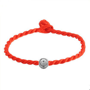 2016 hot sell simple design red string luckly ball 925 sterling silver baby bracelets jewelry for gift(China (Mainland))