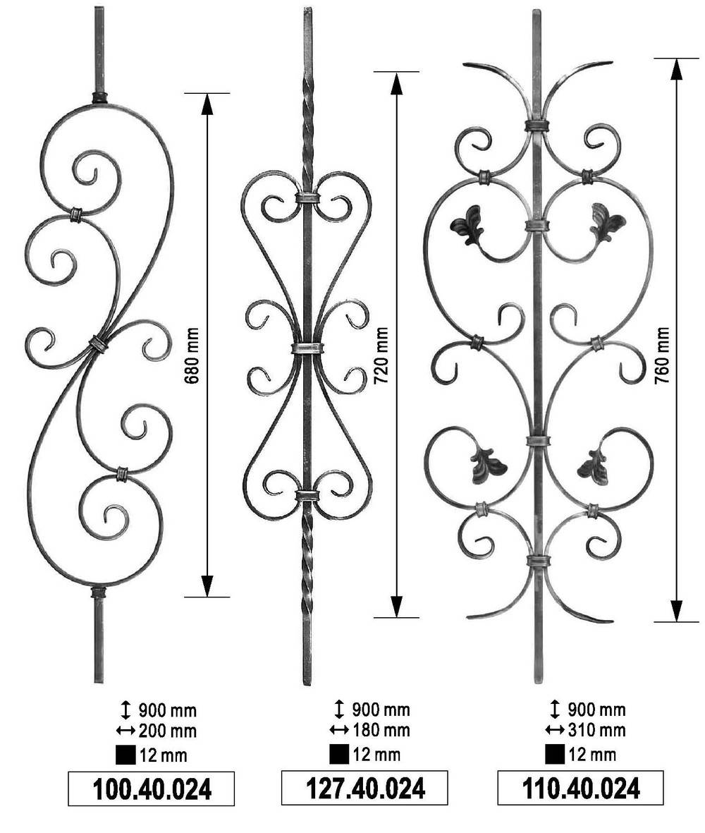 Wrought Iron Font Solid Bar of Wrought Iron
