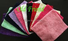 "10"" Crochet Tutu Tube Tops Chest Wrap , Kid's Wide Crochet Elastic Headbands, 2pcs/lot 11 color free shipping"