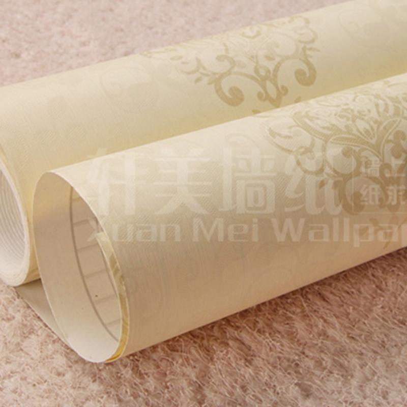 10m hot sale 3d embossed flower vinyl wallpaper waterproof for Vinyl waterproof wallpaper