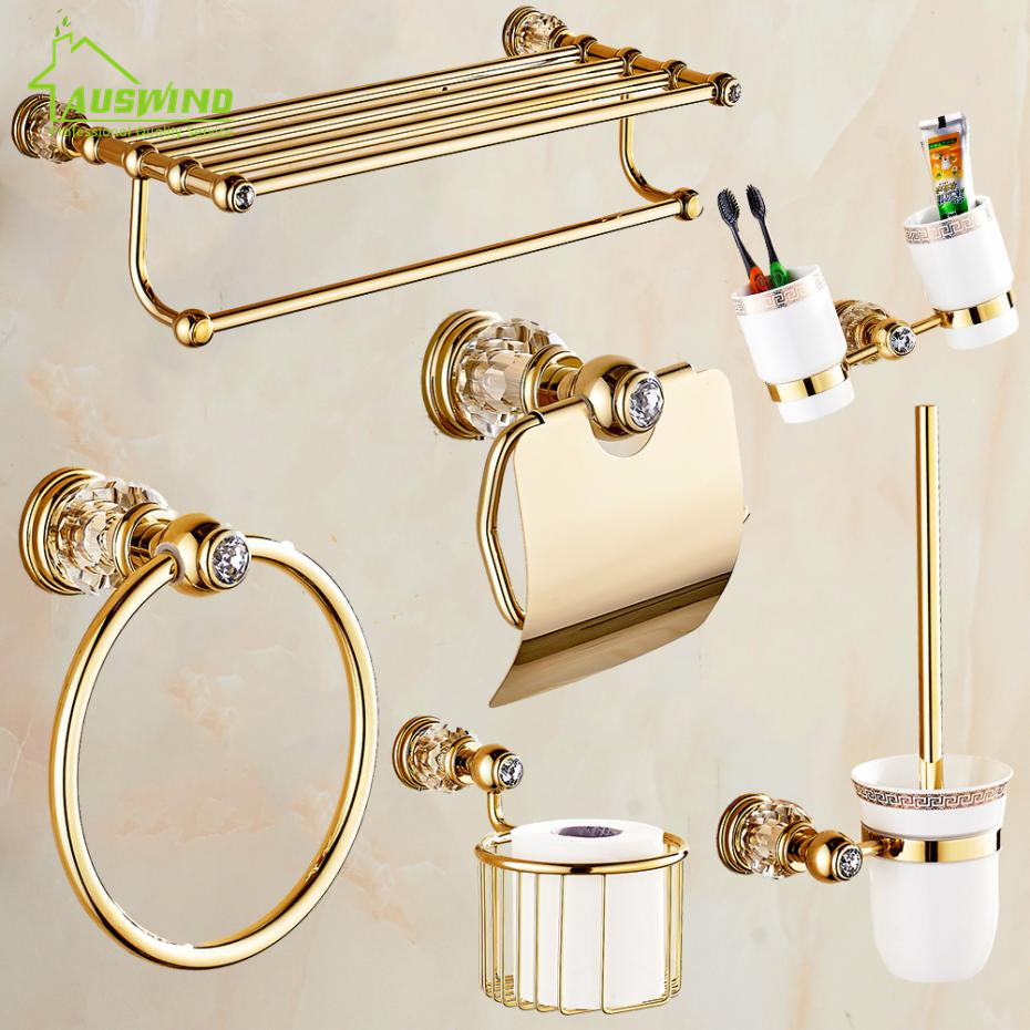 Buy european gold bathroom hardware set for Vintage bathroom accessories