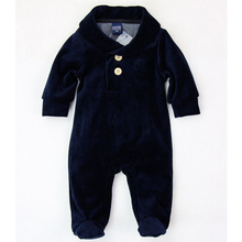New Autumn Winter Newborn Baby Romper long sleeve girls/boys velure keep warm infant  Romper one-pieces for girl/boy 107(China (Mainland))