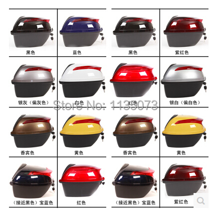 High quality large Tail box of electric motorcycle Protective Gears trunk - 41*39*28cm anti-shock trunk TOP CASES free shipping(China (Mainland))