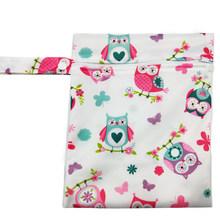 Bolsas húmedas PUL de viaje bolsa de pañales de tela impermeable para bebé bolsa de pañales reutilizable con cremallera para bebé bolsas secas húmedas 25x20cm(China)
