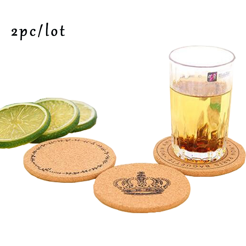 2016 new hot 10cm Cork Wood Drink Coaster Tea Coffee Cup Mat Flexible Table Heat Resistant Round Drinks Mats Free Shipping(China (Mainland))