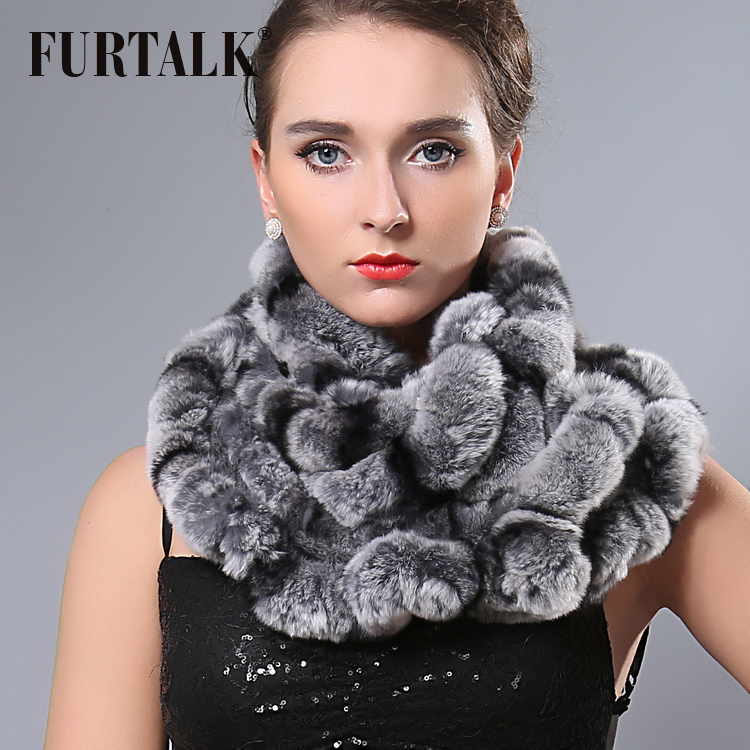 Low price women's cape winter thermal 2015 fashion excellent infinity rex rabbit fur scarf(China (Mainland))