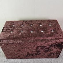 [ джейсон мебель ] Ice фланель мода алмазными искусство хранения информации большого объема стул , чтобы сидеть box завод оптовая продажа