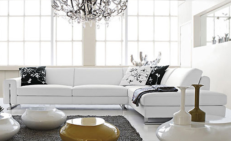 Small L Shaped simple white cattle leather modern sofa  best home furniture LC9108<br><br>Aliexpress