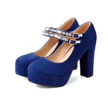 ARMOIRE Brand New Hot Fashion Women Platform Pumps Black Blue Red Ladies Shoes High Heels Pointed AWM621-2 Plus Big Size 32 43(China (Mainland))