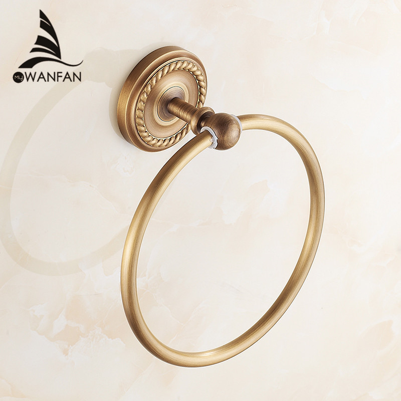 Buy free shipping towel ring copper for Bronze and gold bathroom accessories