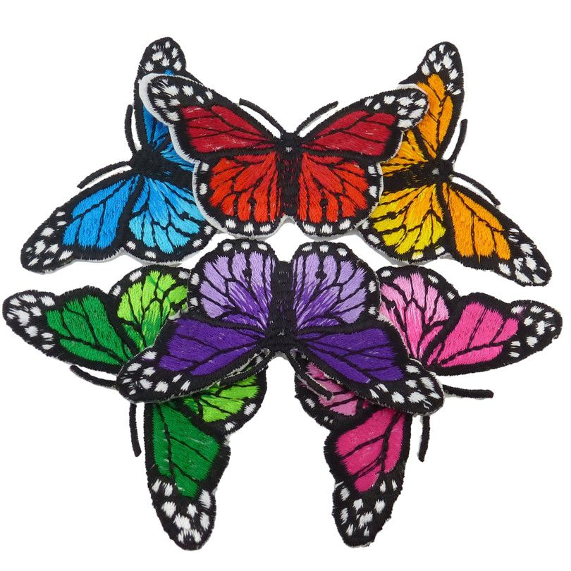 Free Shipping Embroidered Iron on Patch Sewing Clothes Pants Butterfly Accessories 6 Kind(China (Mainland))