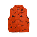 2016 Autumn And Winter Fashion Cartoon Clothing Boys Vest Children Vest Variety Of Solid Single Breasted