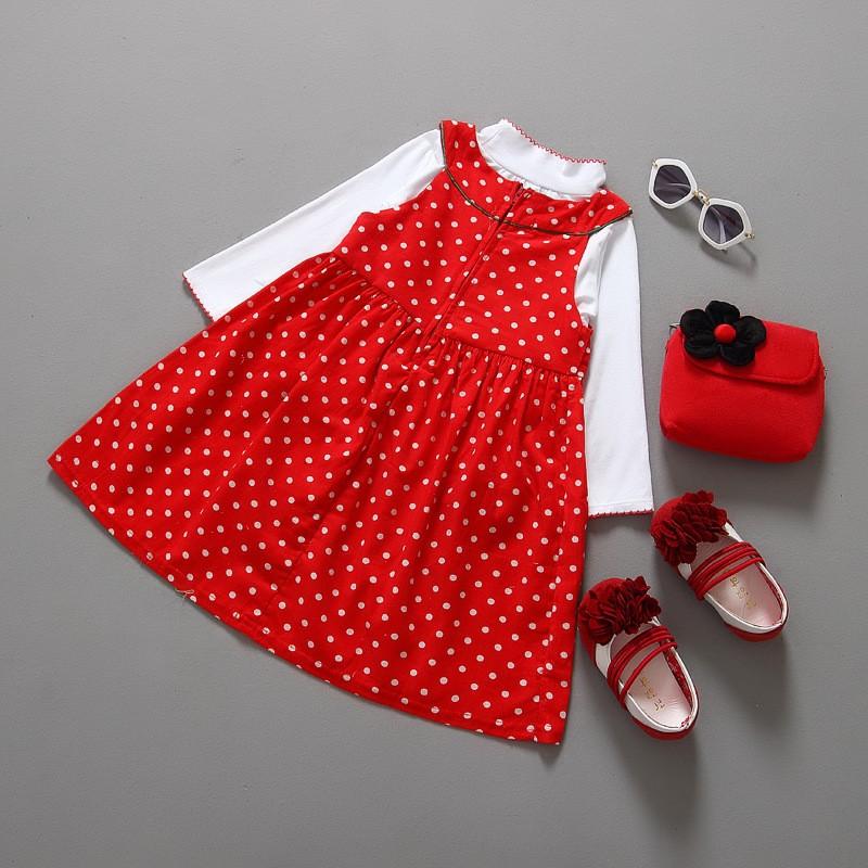 2PCS/2-6Years/Christmas Kids Dresses For Baby Girls Clothes Cartoon Cute Santa Claus Dress+T-Shirt Children Clothing Sets BC1336  HTB1pfnvKpXXXXaSXXXXq6xXFXXXD