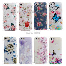 SSS-N N22 -Flower Design Painted Black Cover Case For Apple iPhone 5 iPhone 5S Cases For iPhone5 Phone Shell–:& HHH- KKK 112 XX