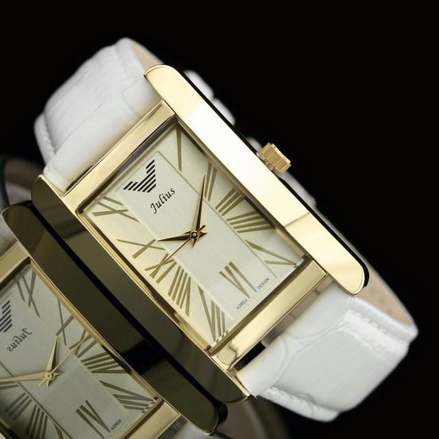 2016 relojes хомбре мода кожаный ремешок кварцевые часы мужчины люксовый бренд корея конструкции водоустойчивый юлий наручные часы подарок