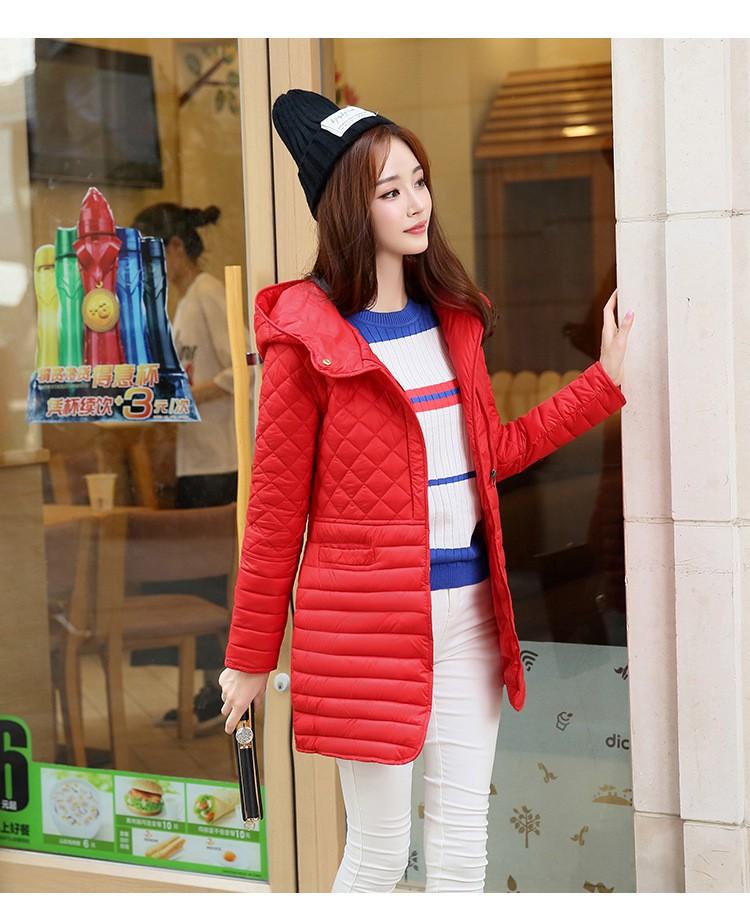 Korea 2016 New Preppy Women Jacket Winter Thicken Down Cotton Jacket Big Yards Hooded Padded Coat Slim Long Outwear Parka A2031