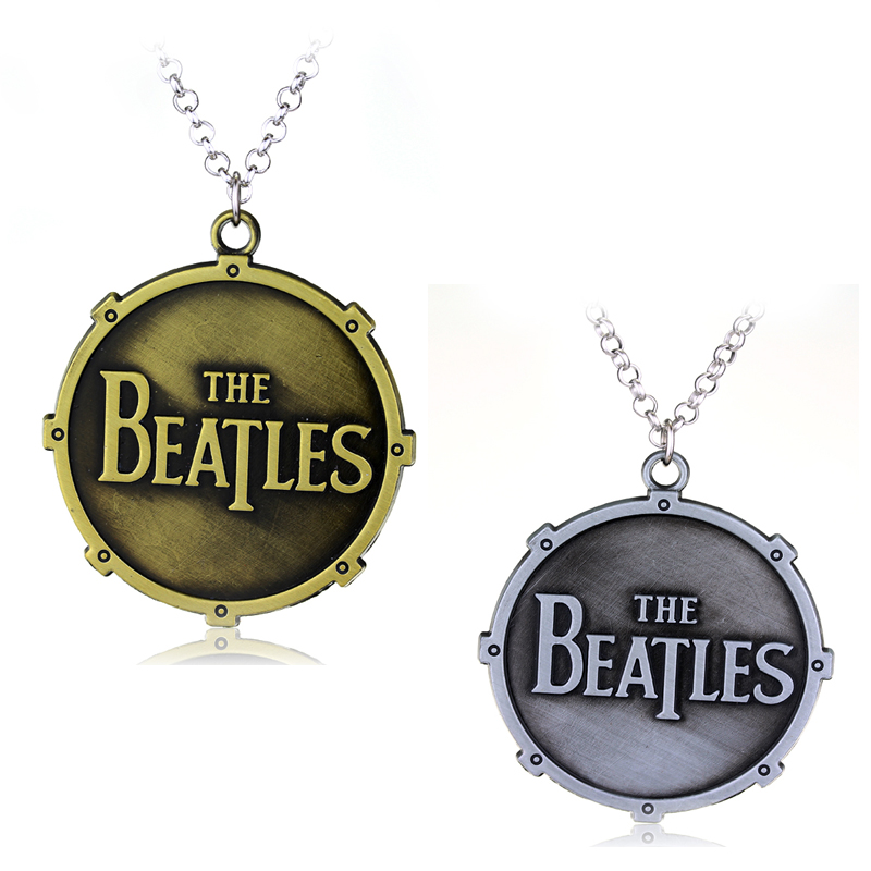 New Fashion Rock Band Music The Band The Beatles characters Metal Necklace 2 colors statement necklace fashion chain link(China (Mainland))