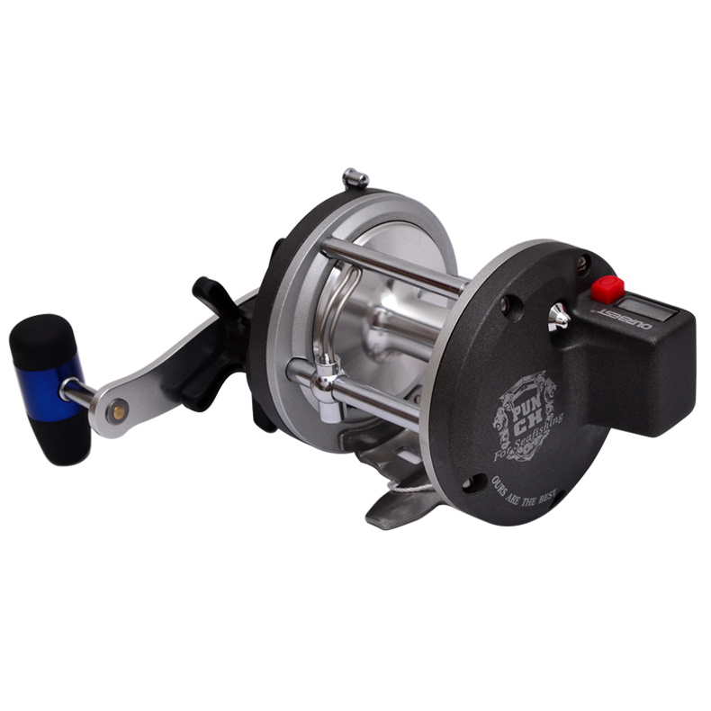 4BB 4.2:1 PUNCH830 Big Game Trolling Fishing Reel Jigging Boat Reel Ocean Reel Bait Cast Drum Reel With Electric Counter Wheel