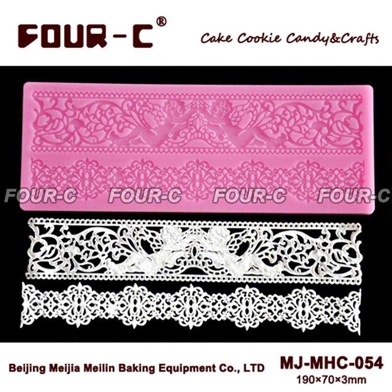 Hot silicone lace mold decoration baking tool cake lace mat fondant lace cake mold wedding decoration silicone mat(China (Mainland))