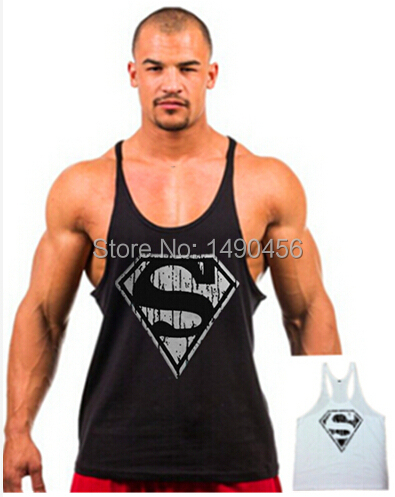 Superman Gym Singlets Mens Tank Tops Shirt,Bodybuilding Equipment Fitness Men's Golds Gym Stringer Tank Top Sports Clothes(China (Mainland))