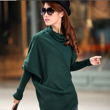 High Quality clothes 2016 Hot Sale Women autumn Winter Knitted Sweater Batwing Sleeve Tops Pullover Coat Loose Outwear 100% good(China (Mainland))