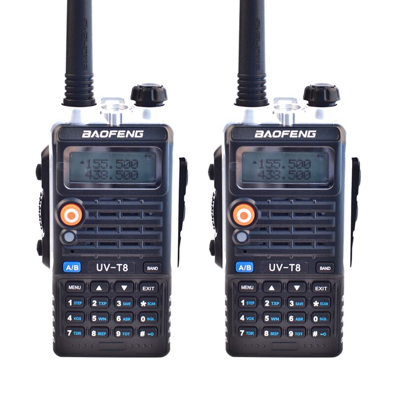 2PCS Baofeng Two Way Radio UV-T8 Walkie Talkie Dual Band UVT8 8W High Power DC7.4V 3800mAh Li-ion Battery LEG Lighting(China (Mainland))