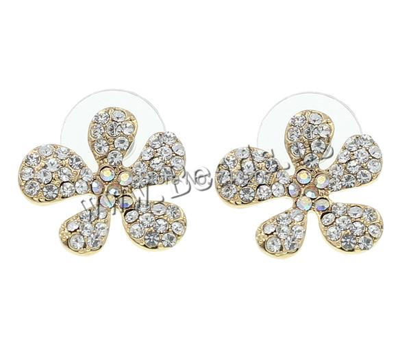 Free shipping!!!Zinc Alloy Stud Earring,Fashion Jewelry Graceful, with plastic earnut, stainless steel post pin, Flower<br><br>Aliexpress
