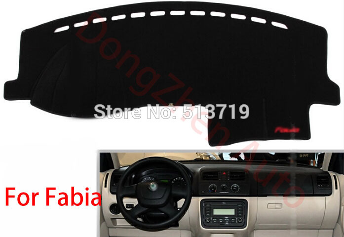 Car dashboard Avoid light pad Instrument platform desk cover Mats Carpets Auto accessories For skoda Fabia от Aliexpress INT