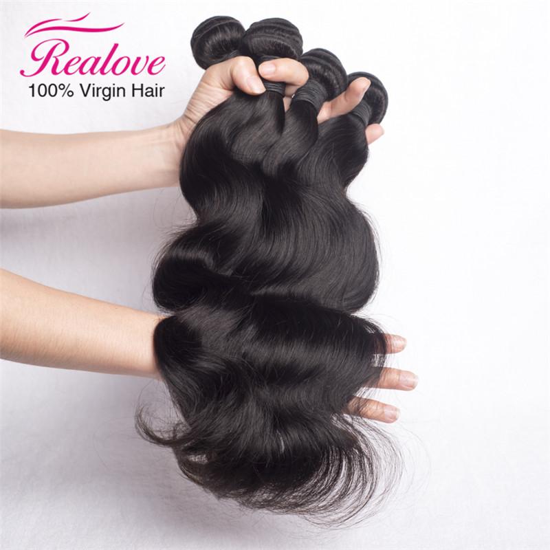 Realove hair brazilian body wave A brazilian hair real brazilian body wave hair 3pc lot brazilian hair wavy free shipping 8