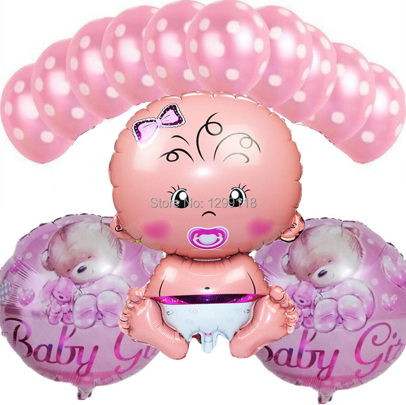 /lot Baby Boy Birthday Party Decoration Balloons Baby Shower Balloons ...