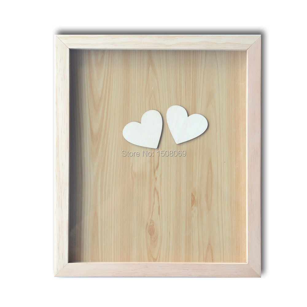 Personalized Letters Drop Box Heart Wood Guest Book for Rustic Wedding Gift