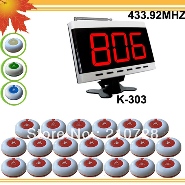 433.92mhz Western restaurant pager system W 1 call display and 20 nice 433mhz transmitter DHL free shipping