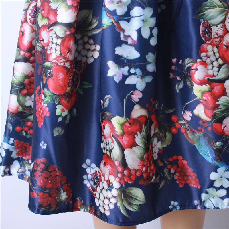 HTB1pgyPQFXXXXarXXXXq6xXFXXXo - GOKIC 2017 Summer Women Vintage Retro Satin Floral Pleated Skirts Audrey Hepburn Style High Waist A-Line tutu Midi Skirt
