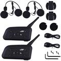 1200M Motorcycle Helmet Intercom Bluetooth Music Reciever 6 Riders BT Wireless Interphone intercomunicador Headsets MP3 EU