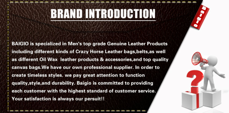 Baigio Mens 13″ Laptop Briefcase Bag Vintage Brand Designer Leather Men Messenger Bags Tote Satchel Travel Shoulder Bag Male