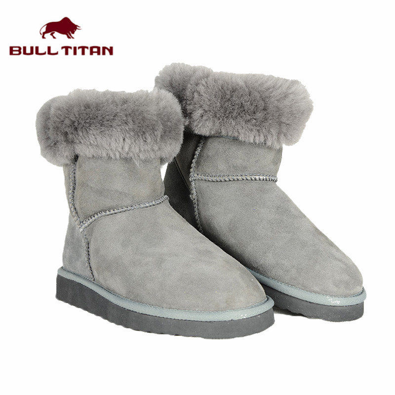 New Brand Australia Sheepskin Boots Real Fur Women Suede leather Snow Boots Waterproof Winter Ankle Boots Women Warm Shoes(China (Mainland))