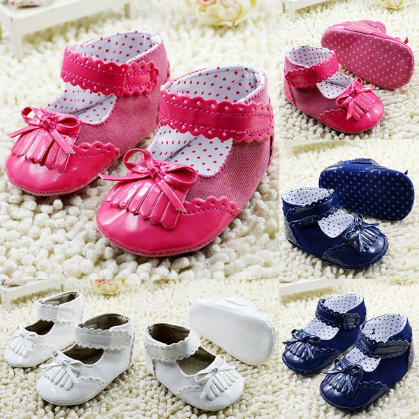 Best Sales baby shoes girl bowknot baby shoes soft PU Leather first walker brand pricess shoes(China (Mainland))