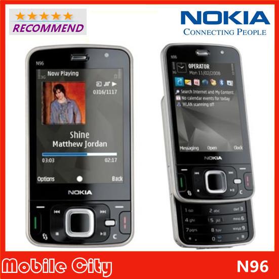 Original Refurbished Unlocked Nokia N96 Mobile Phone 3G WiFi GPS cell phone 16GB Internal Free Shipping(China (Mainland))