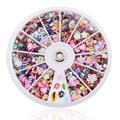 1000pcs set Mix Fimo Resin Sequin Designs Nail Rhinestone Slice Wheel DIY Nail Art Tips Decoration