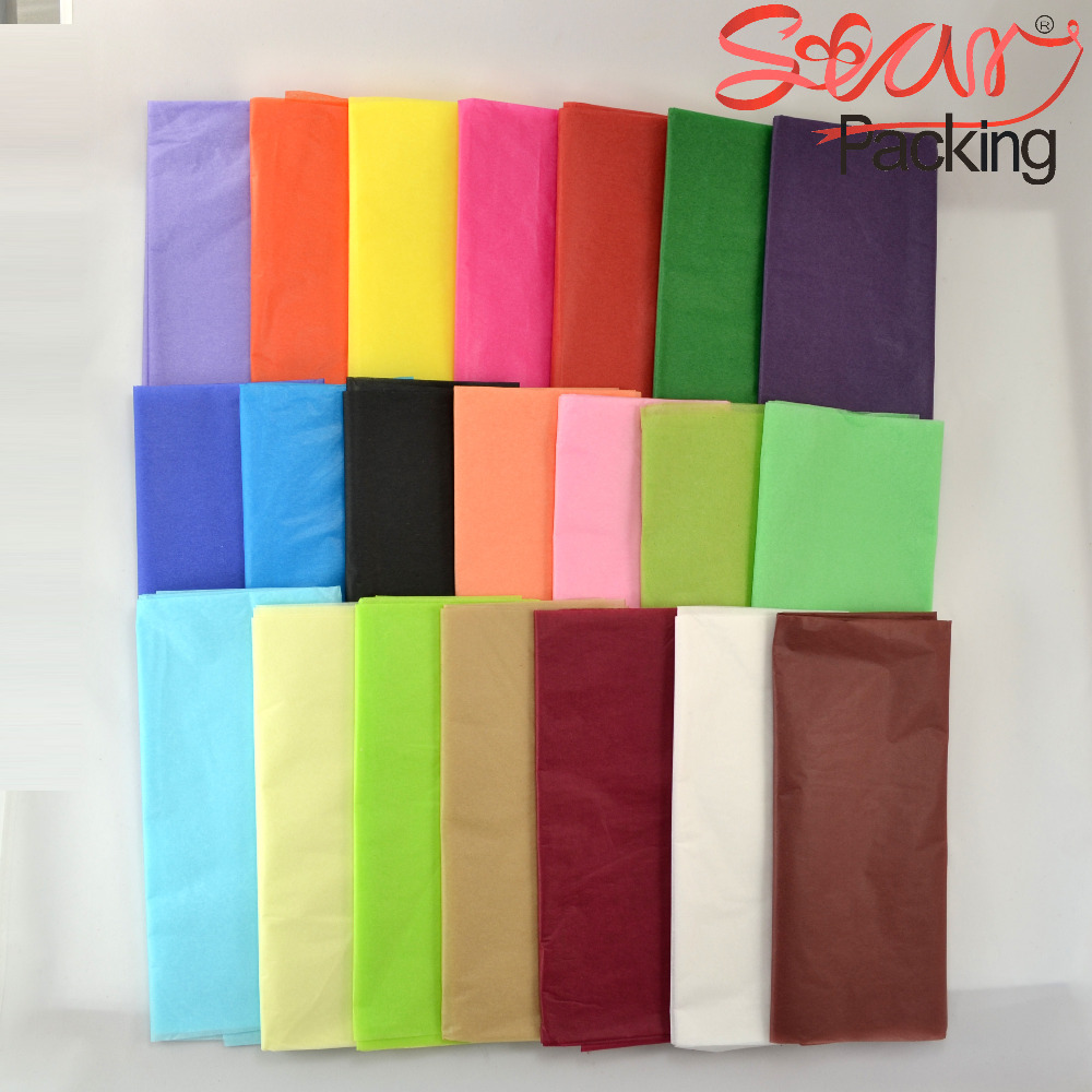 28 colors Size 50x70cm colorful single copy tissue paper wine,shirt,bag,shoes wrapping paper gift packing material 100pcs/lot(China (Mainland))