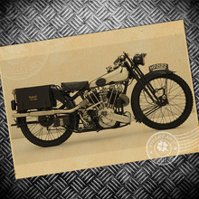 Vintage poster motorcycle painting retro house decoration wall art sticker bar pub old print picture 42x30cm(China (Mainland))
