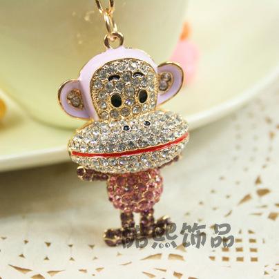 Фотография Cool hee jewelry creative new Korean style hanging Keychain explosion hot mouth monkey Keychain bags ornaments