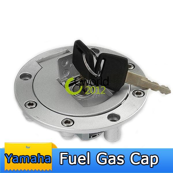 Motorcycle Aluminum Fuel Tank Gas Cap Door Locking Cover For YAMAHA YZF R1 R6 600 750 TDM850 TDM900 TRX850 FJ1200(China (Mainland))