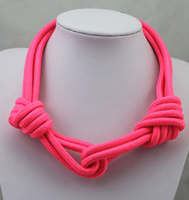 Selling candy colored fluorescent short necklace simple atmospheric Acacia Festivalwomen 2016 mew free shipping(China (Mainland))