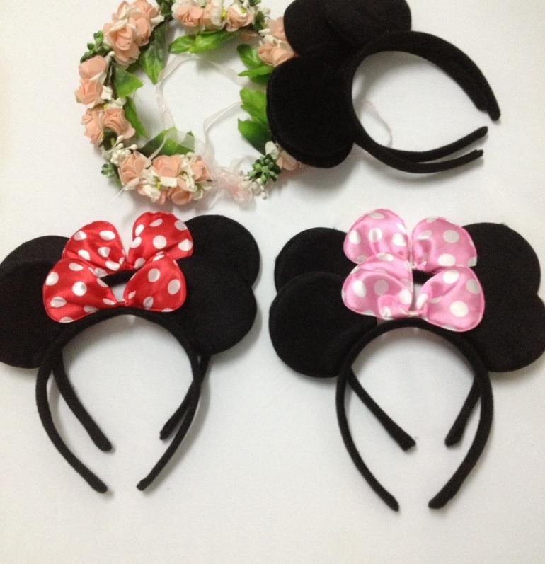 30pcs Children Mickey Headbands birthday party gift Minnies Ear Hair Accessories kids Headwear present wedding party supplies(China (Mainland))