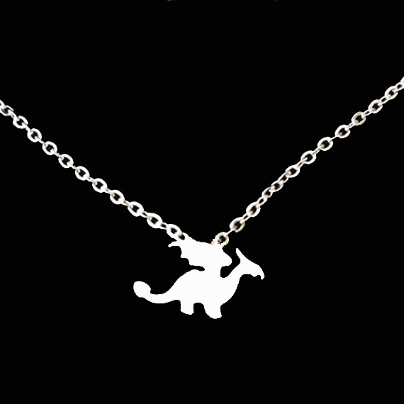 Unique Body Chain Silver Gold Layering Choker Necklace 2016 BFF Jewelry Stainless Steel Bijoux Jurassic Dinosaur Necklace(China (Mainland))