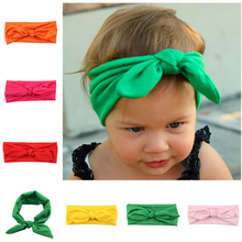 Fashion Baby Girl Toddler Infant Headband Rabbit Bow Ears Baby Headband Hair Band Knot Head Wraps Headdress Hair Accessories