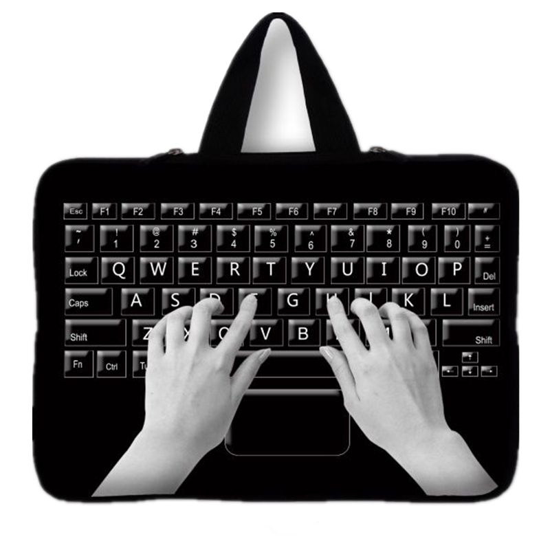 7 10 12 13 14 15 17 inch keyboard Print sleeve case carry handbag for laptop tablets notebook cover 13.3'' 15.6 computer bag #2(China (Mainland))